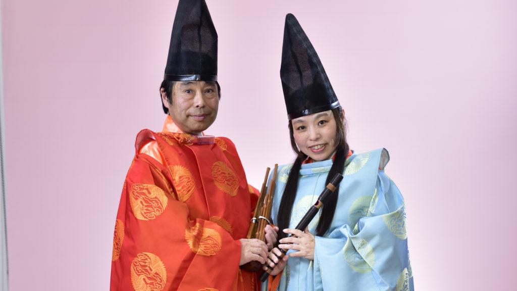 日本で唯一の夫婦雅楽ユニット