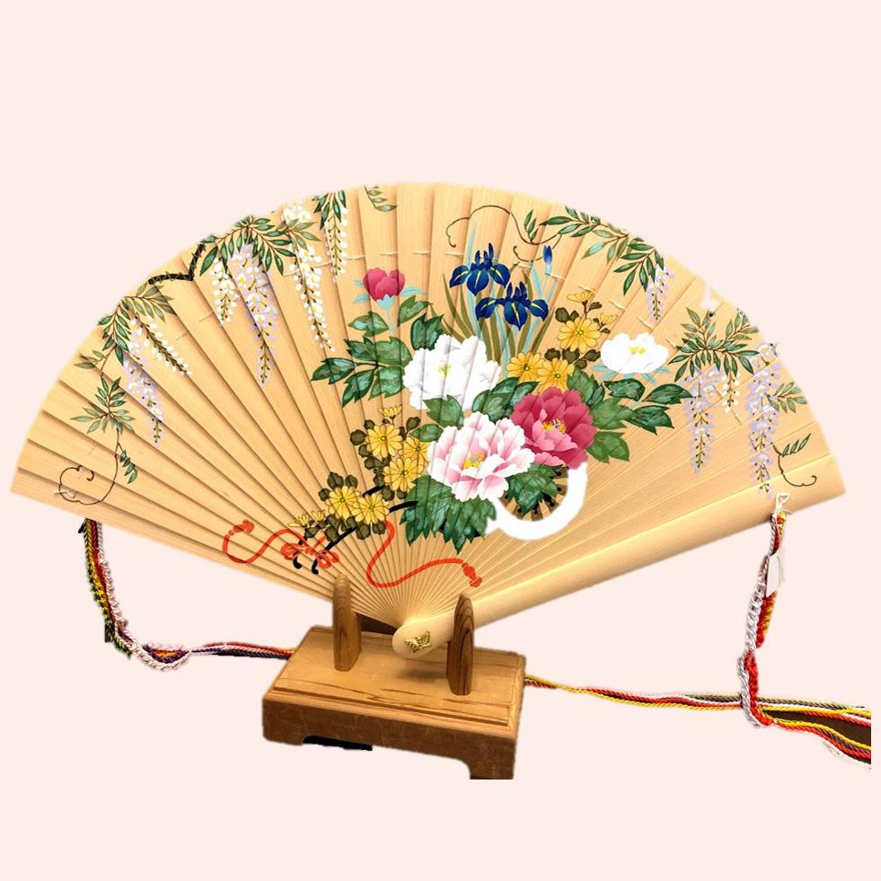 檜扇(百花柄)